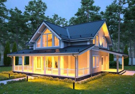 Каркасный дом может быть уютным и стильным